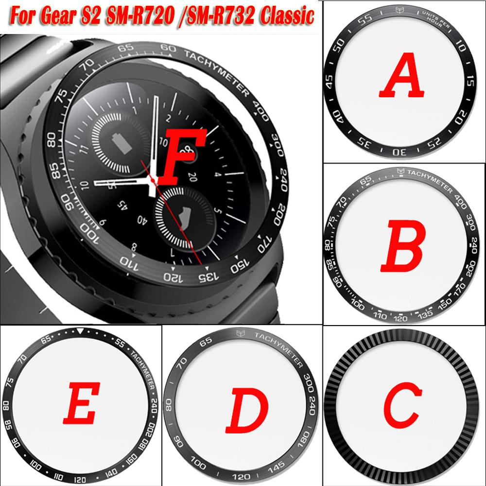 For Samsung Gear S2 SM-R732 Classic SM-R720 Sport Galaxy 42mm Bezel Ring Styling Case Adhesive Cover Protection Ringke Bezel