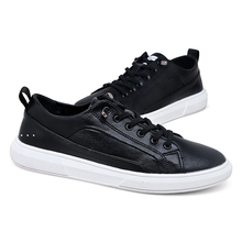 Brand High quality all Black Mens leather casual shoes Fashion Breathable Sneakers fashion flats Microfiber *629