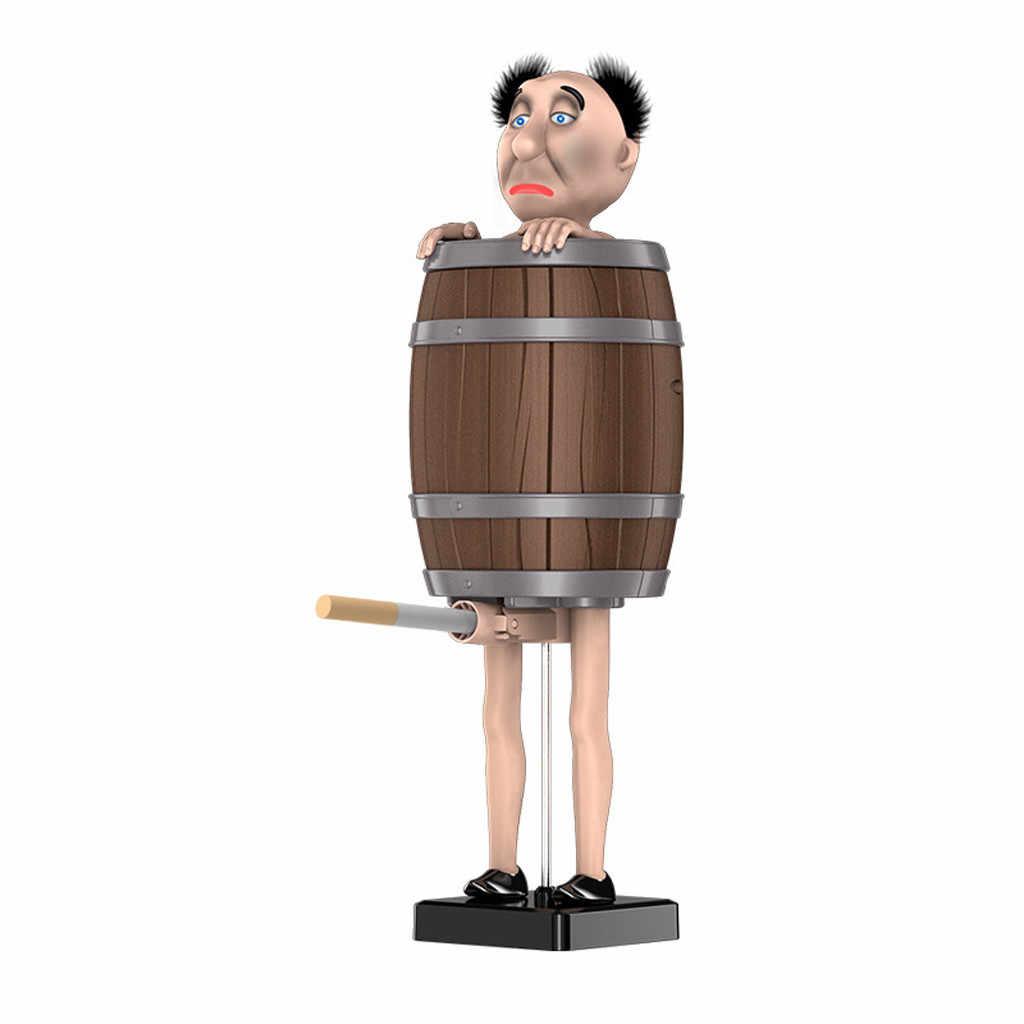 Box automatico di Sigarette Tenere Babbo natale Decorazione di Legno Barile Tasca Sigaretta Scatola di Immagazzinaggio Contenitore di Tabacco Holder # R20