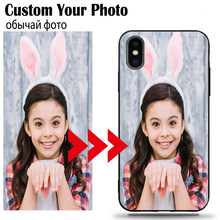 DIY Photo Custom Phone Case untuk Xiaomi Redmi 6 5 4X Plus K20 8A 8 7 7A 6A Note 8 7 6 5A 4 4X Pro Lembut Tpu Hitam Nama Logo(China)