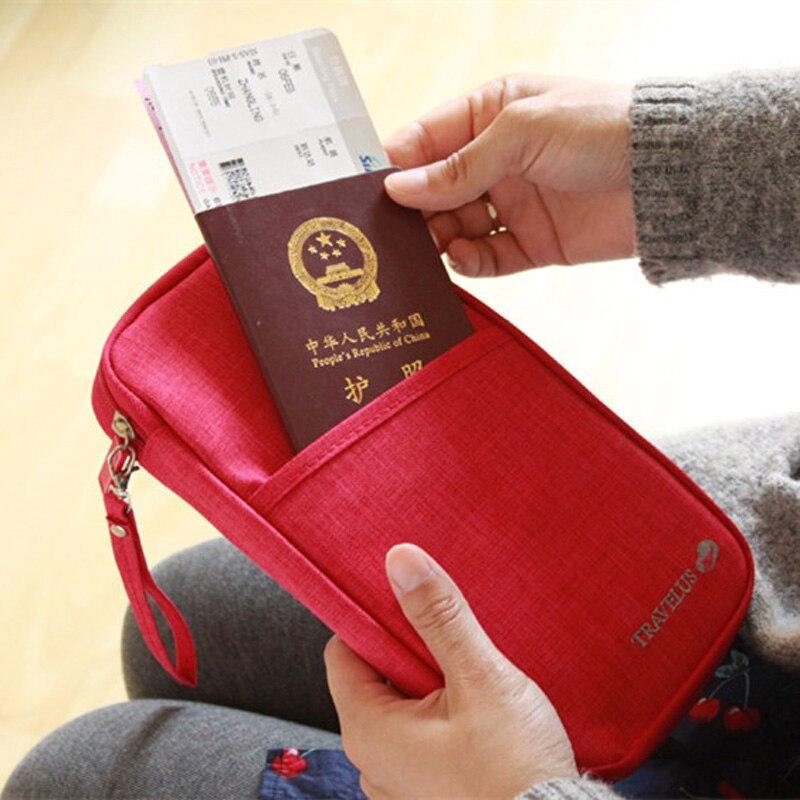 Travel Passport Wallets Credit Card Cover Large Capacity Waterproof Document Organizer Travel Accessories Passport Holder