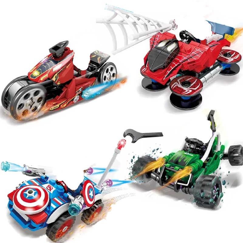 Pomysły Tron iron Man Maste Legacy Hulk superbohater motocykle marvel zestawy klocków budowlanych cegły zabawki dla dzieci Ninja SuperHeros Movie
