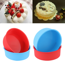 4 Inch Round Pattern Pudding Mold Cake Pan Tray Muffin Mousse Mould Silicone DIY Baking Tools Pastry Dish Kitchen Accessories silicone pudding mold cake pastry baking round jelly gummy soap mini muffin mousse cake decoration tools bread biscuit mould