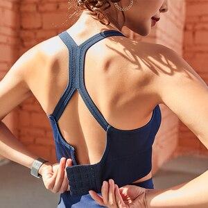 Image 5 - Frauen Push Up Nahtlose Sport Bh Workout Weibliche Sport Top Crop Fitness Active Wear Für Yoga Gym Büstenhalter frauen sportswear