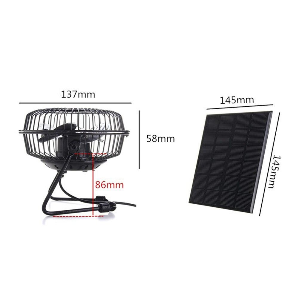 3W 6V Mini Solar Panel Ventilation Cooling Fan 4 Inch Power Bank Fan