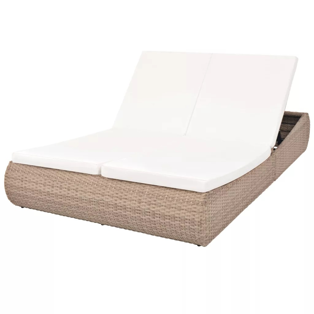 VidaXL Luxurious Rattan Lounge Chair Combines Elegance And Functionality Folding Chair Lounger Beach Outdoor Patio Reclining