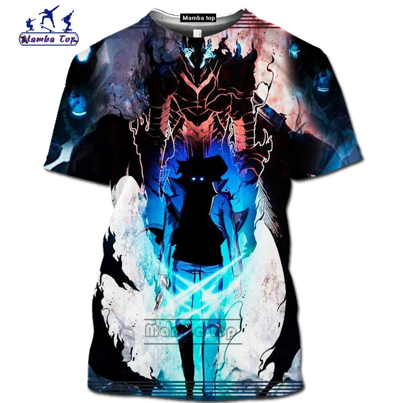 Mamba top Hot Comic Solo Leveling shirt homme fashion funny men T-Shirts 3D Anime Harajuku Jin-woo tee Short sleeve Streetwear (1)