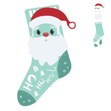 GJCrafts Merry Christmas Dies Santa Claus Sock Metal Cutting New 2019 for Card Making Scrapbooking Embossing Cut Craft