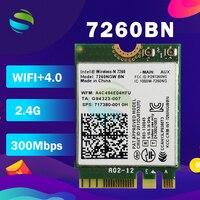 Wireless-N 7260 Drahtlose Netzwerk Karte für Intel 7260NGW 7260BN wifi Bluetooth 4,0 NGFF M2 Karte 300Mbps wifi adapter
