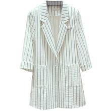 2019 Hot Sale Autumn Women Blazers And Jackets Office Lady Suit Coat Slim White Black Strip Business Female Blazer Feminino