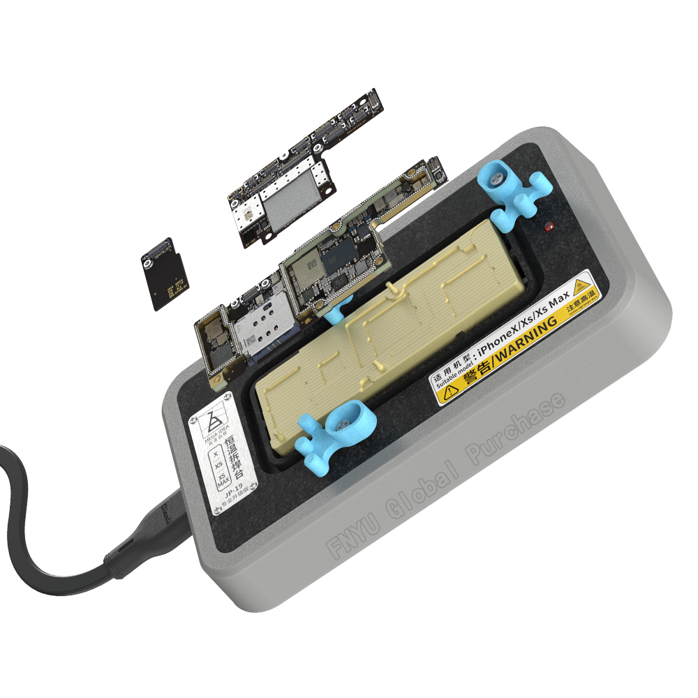 QIANLI telephone motherboard layered separator X Xs Max heating desoldering station in addition to glue and tin welding tools