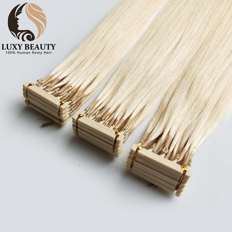 6D Hair Extensions For Salon DIY 6D-2 Generation 100% Human Hair Extensions Blonde 60# 1g/Strand Virgin Hair 20