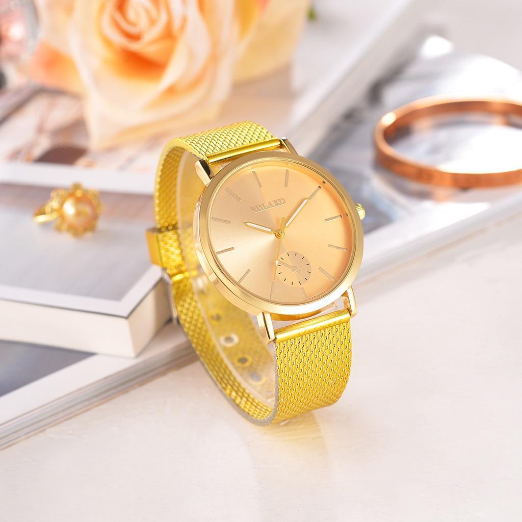 Fashion Women Watches Scale Dial Ladies Casual Analog Quartz Wristwatch Gose Gold Mesh Belt Strap Clock Relogio Feminino533