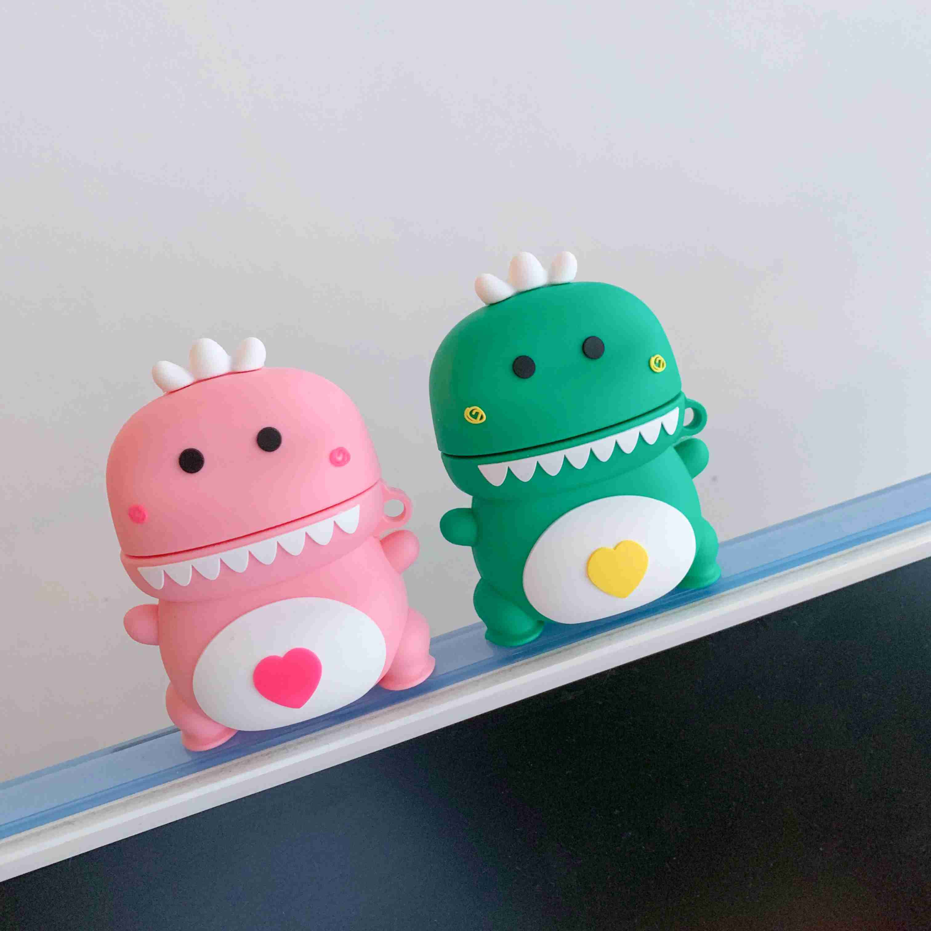 For AirPods Case Cartoon Cute Dinosaur Pattern High Quality Silicone Protection Case For Apple Air Pods 2 Wireless Earphone Case