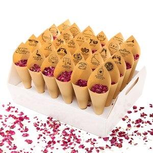 Image 3 - Confetti CONE Holder FEESTIGO Confetti CONE ถาดสำหรับงานแต่งงานตกแต่งกลางแจ้งสนามหญ้างานแต่งงาน Confetti Cones สีขาว Kraft