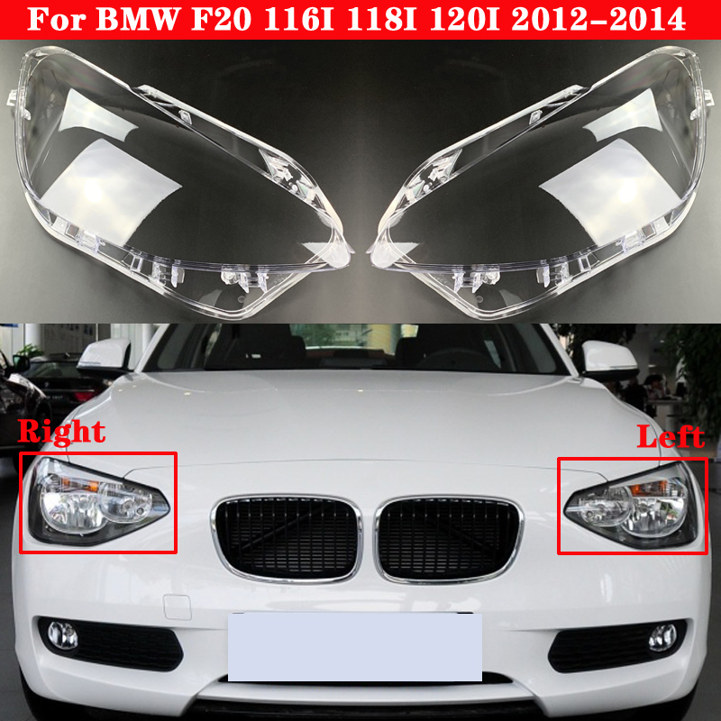 Car Front Headlight Cover For BMW 1 Seriers F20 116I 118I 120I 2012-2014 Auto Headlamp Lampshade Lampcover Head light Lamp glass image