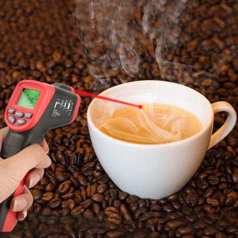 Image 5 - NEWACALOX инфракрасный ЖК дисплей цифровой термометр  бесконтактный температурный тестер промышленный ИК лазерный точечный  пистолет температурный тест инструментПриборы для измерения  температуры   -