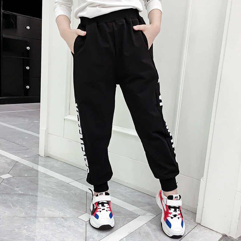 Numbers Harem Pants with Pockets for Girls