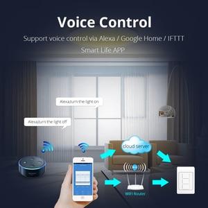 Image 2 - Zemismart US AU WiFi Wall Push Light Switch Alexa Google Home TUYA APP Control One Gang Two Three Gangs Physical Switches
