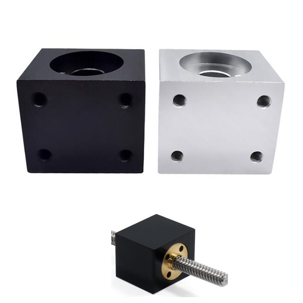 Porca suporte do alojamento para 8mm t8 trapezoidal lead screw conversão porca assento de alumínio bloco 15 peças impressão 3d