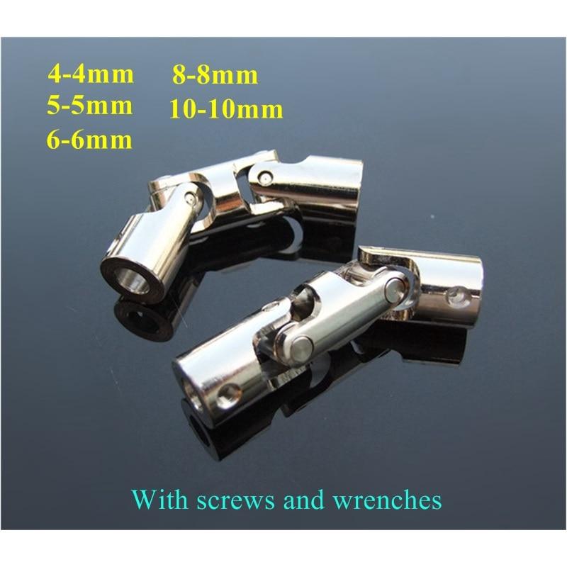 Uma junção universal 4-4 5-5 6-6 8-8 10-10mm do cardan da junção do acoplamento três universal