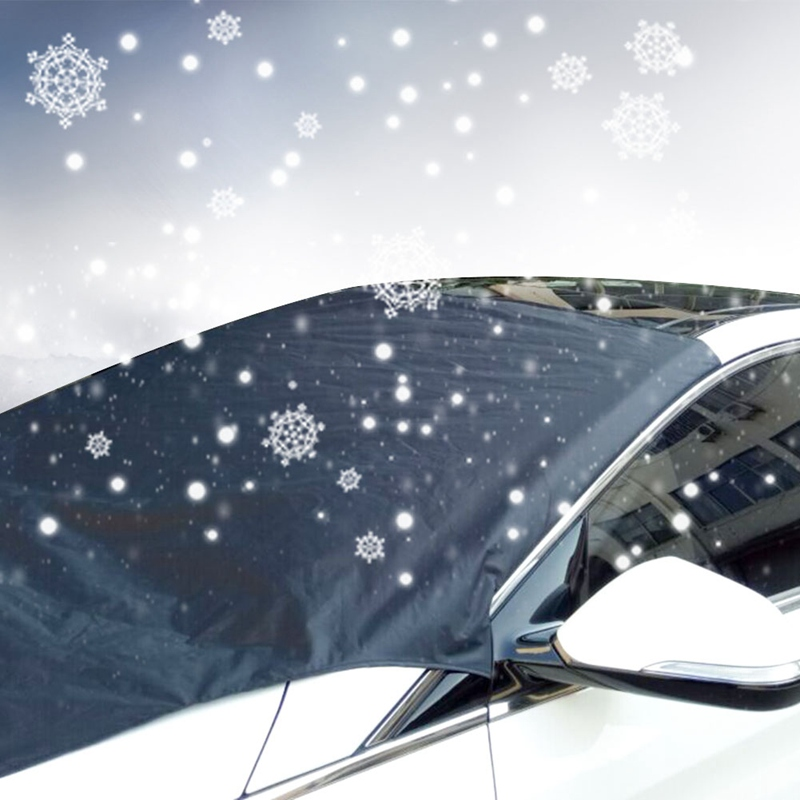Car Magnet Windshield Cover Snow Cover Sunshade Ice Snow Frost Protector Windshield Silver Black Cover