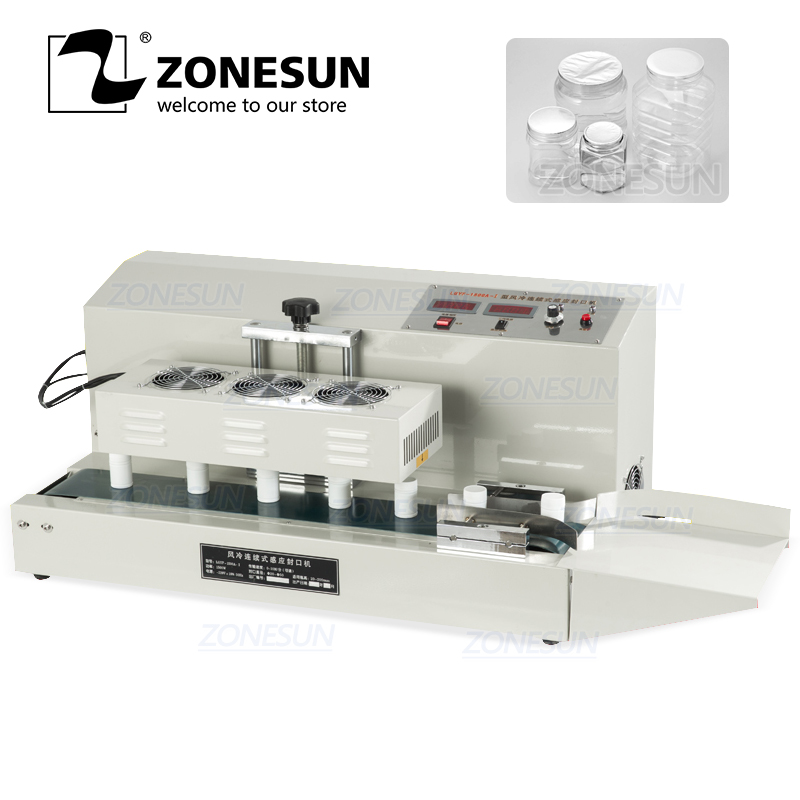 ZONESUN Transistor Air-Cooling Desktop Electromagnetic Continuous Induction Sealing Machine For Vitamin Medicine Bottle