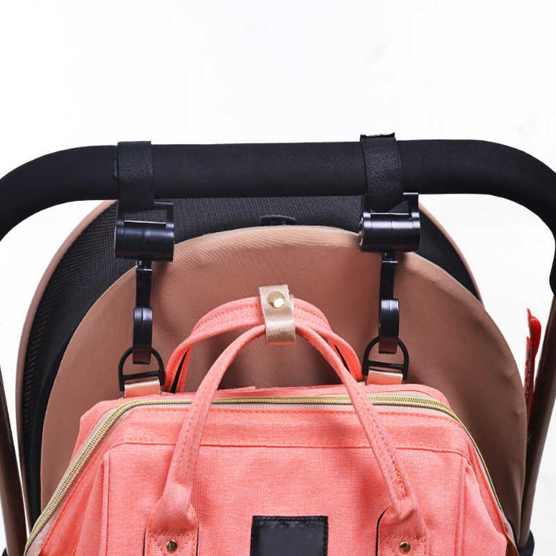 2 stücke/Baby Kleiderbügel Baby Tasche Kinderwagen Haken Pram Drehen 360 Grad baby auto sitz zubehör kinderwagen organizer