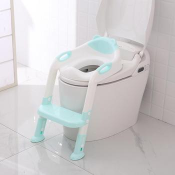 Folding Baby Potty Infant Kids Toilet Training Seat with Adjustable Ladder Portable Urinal Potty Training Seats for Children baby potty seat ladder children toilet seat cover kids toilet folding infant potty chair training portable
