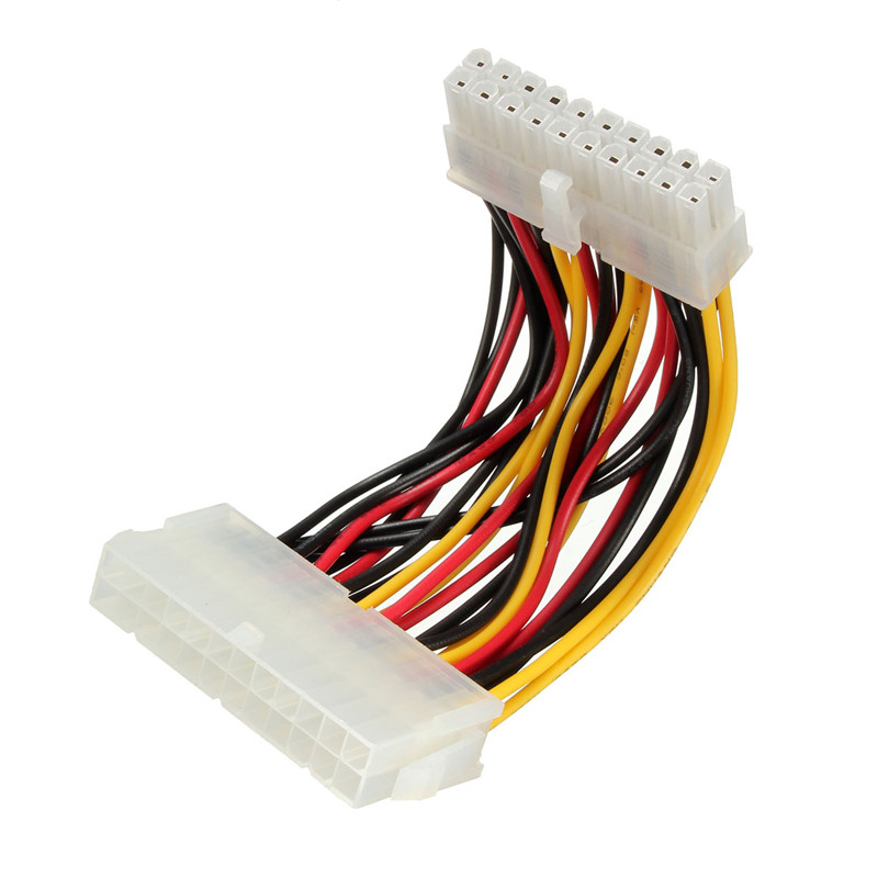 LEORY <font><b>20</b></font> <font><b>Pin</b></font> Male to <font><b>24</b></font> <font><b>Pin</b></font> Female ATX Joint Extension Connector Cable Internal PC PSU Power <font><b>Adapter</b></font> For PC Hard Drive image