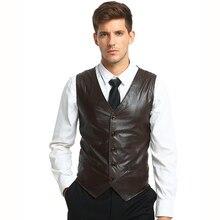 New Arrivals Men casual suit vest Waistcoats smart Casual solid color sleeveless PU leather dress Vest men Tops plus size pu leather panel plus size sleeveless bandage mini hot dress