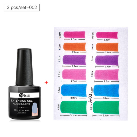 Colorful Fiberglass Nail Extension Silks Set Quick Building Gel Set Tip Nail Wraps Form Extension DIY Nail Art Tool Kit Multan