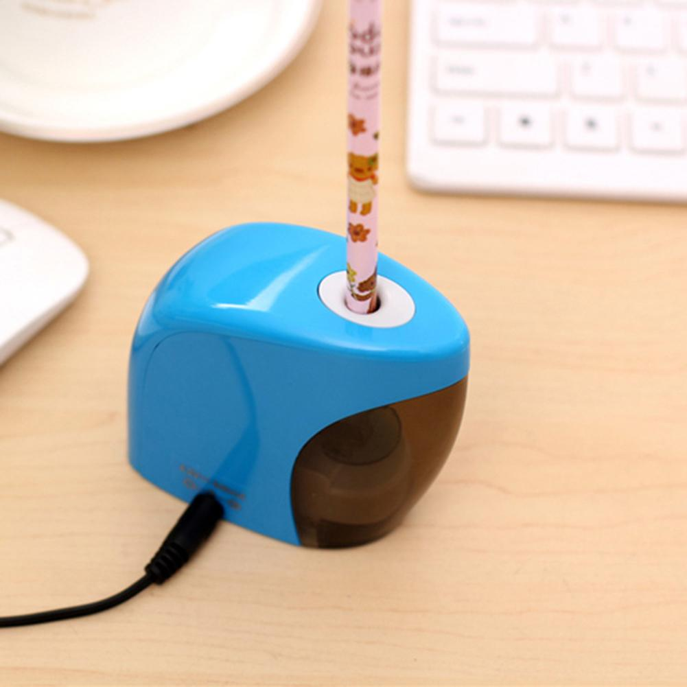 Hot Portable Electric Auto Pencil Sharpener School Sharpener Stationery For NO.2(8mm) Pencils Battery/USB Charge