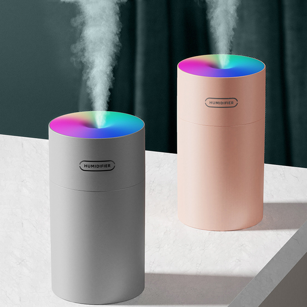 Portable 270ml USB Humidifier Car Household Spray Air Purifier Water Mist Maker Diffuser Atomizer with 7 Colorful Night Lamp