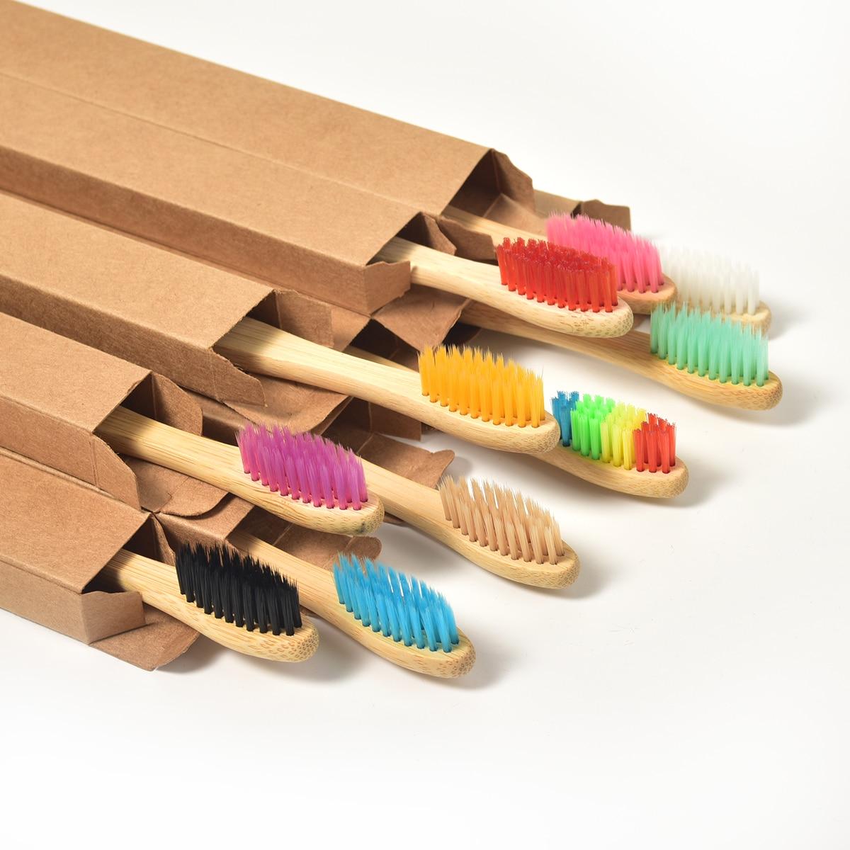 Biodegradable Bamboo Toothbrush Bamboo & Eco Friendly Toothbrushes » Planet Green Eco-Friendly Shop