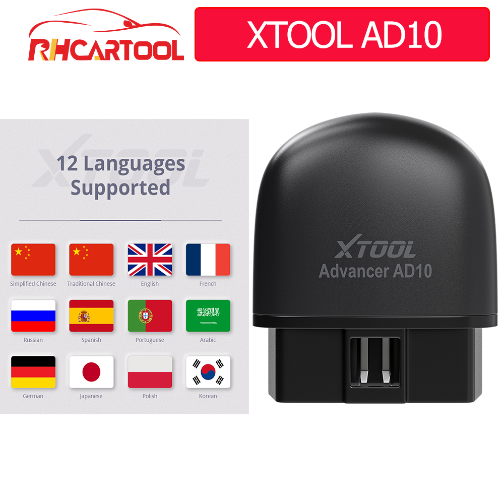 XTOOL AD10 Full OBD2 scanner OBDII Engine Code Reader Car Diagnostic tool Multilingual free update PK CR3001 CR319 AD310 ELM327