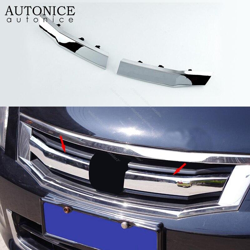 FOR Honda Accord 2008-2010 ABS chrome Front bumper Center mesh Grille refit 2pcs
