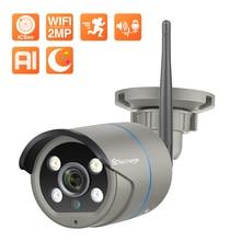 Techage-كاميرا مراقبة IP لاسلكية 1080P ، جهاز أمان منزلي لاسلكي ، مع اكتشاف الحركة البشرية ، صوت ثنائي الاتجاه ، بطاقة TF