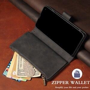 Image 4 - 高級フリップマルチカードファスナー財布革iphone 12プロマックスケースiphone x xs xr 6 6s 7 8プラス11 12ミニケース