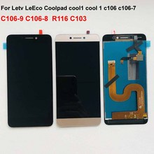 رمادي الأصلي ل Cool1 المزدوج C106 R116 C103 c106 8 شاشة الكريستال السائل مجموعة المحولات الرقمية لشاشة تعمل بلمس ل Letv Le LeEco Coolpad كول 1c