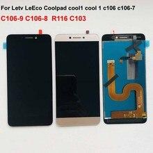 สีเทาเดิมสำหรับ Cool1 Dual C106 R116 C103 c106 8 จอแสดงผล LCD Touch Screen Digitizer ASSEMBLY สำหรับ Letv Le LeEco Coolpad cool 1C