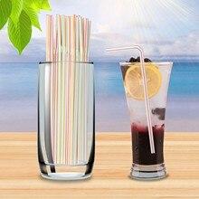 Straw-Bar-Accessories Straws Bendy Rainbow Drink Disposable Milk Tea 600 Elbow-Material