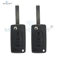 Remtekey 2pcs CE0536 Folding remote key 3 button with light for Citroen Peugeot HU83 blade 434mhz remtekey