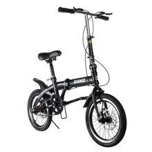 16 polegada dobrável ultra-leve bicicleta de velocidade variável freio duplo dobrável bicicleta de estrada estável antiderrapante para crianças adultas