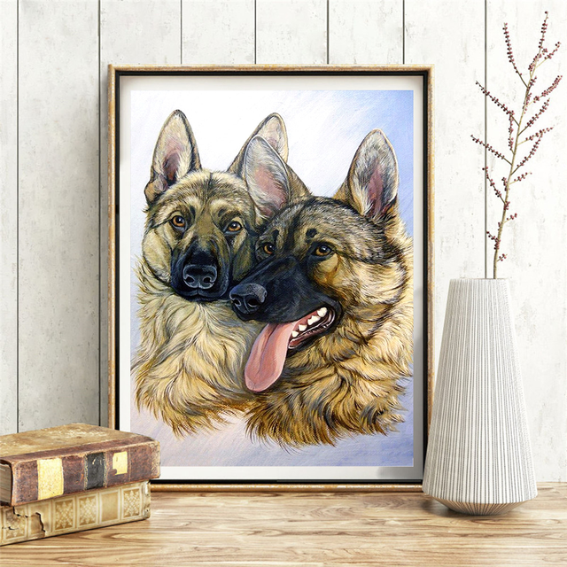 HUACAN 5D DIY Diamond Painting Full Drill Dog New Arrivals Home Decoration Mosaic Animal Diamond Art