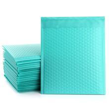 10 uds/175*228mm/6×9 pulgadas espacio utilizable Teal Poly bubble Mailer sobres acolchado bolsa de correo auto sellado