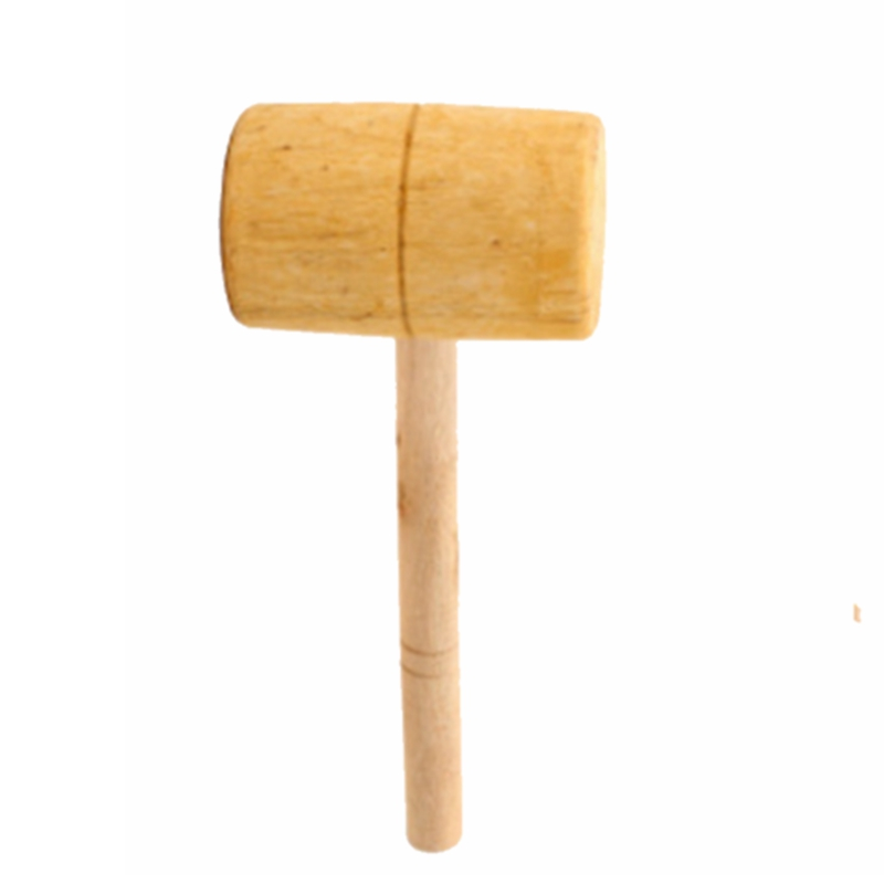Solid Carpenter Wooden Mallet Hammer Handle Round Head For DIY Woodworking Household Working Carvers Hand Tool QDD9745