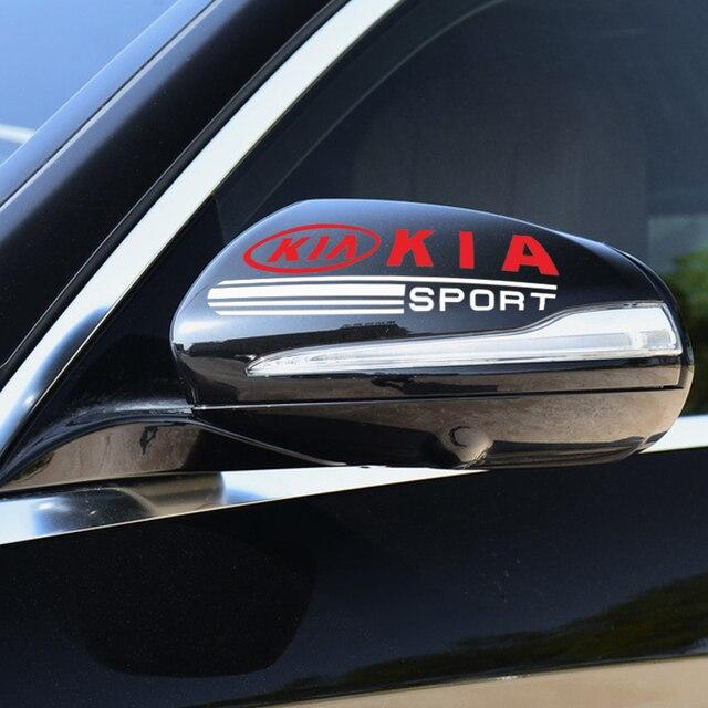 2 шт автомобильный стайлинг автомобильная наклейка на зеркало фотография