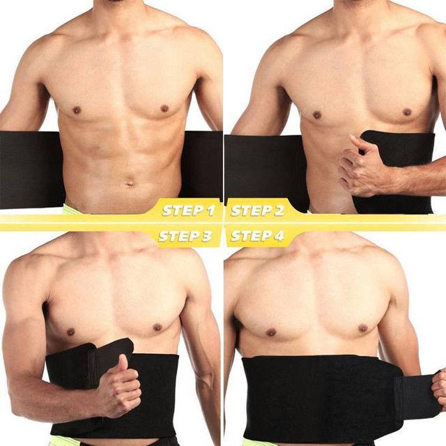Waist Trainer Cincher Trimmer Sweat Belt Men Women Shapewear Gym Body Shaper LOT 1