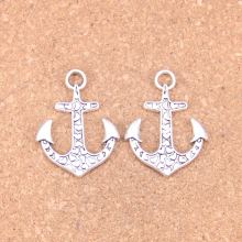 8pcs Charms heart anchor 34x26mm Antique Pendants,Vintage Tibetan Silver Jewelry,DIY for bracelet necklace